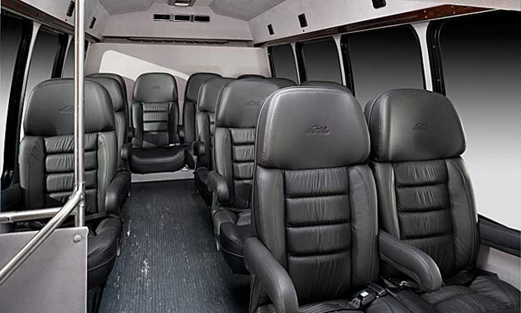 Airport Transfer Houston - 18 Passengers Corporate Limo Bus - Inside